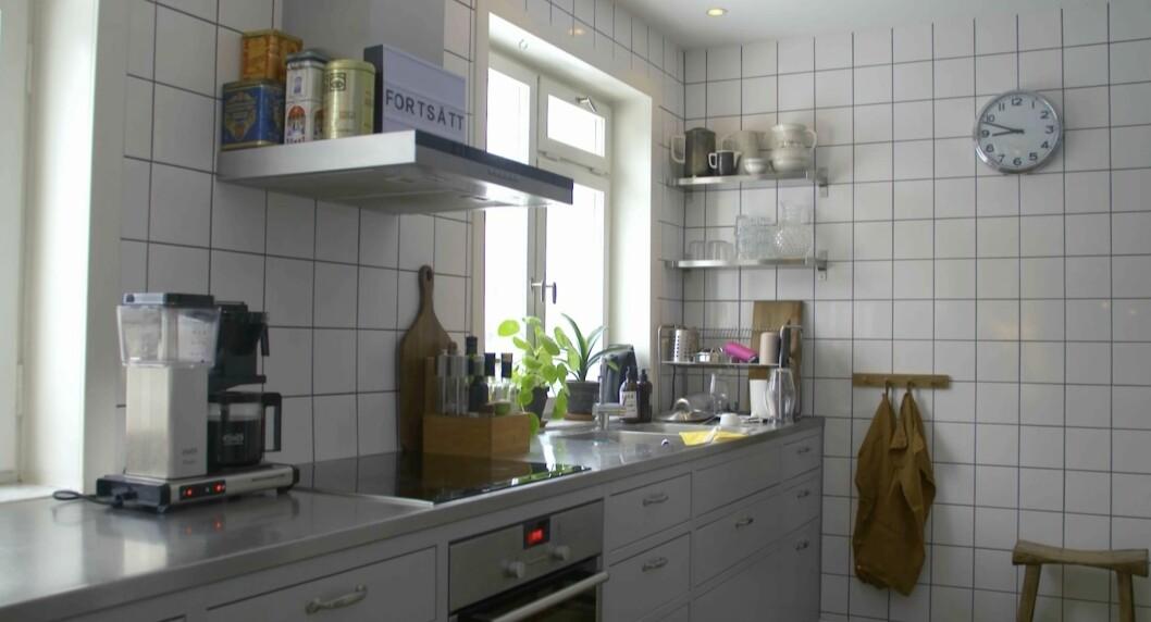 Det moderna och ljusa köket.