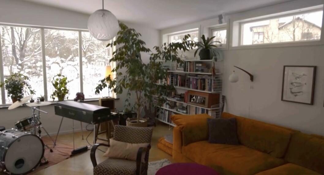 Vardagsrummet hemma hos Kerstin och Anders Lundin.