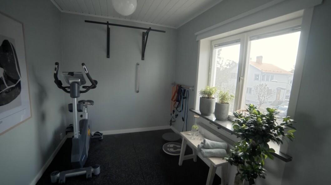 Träningsrummet hemma hos Kerstin och Anders Lundin.