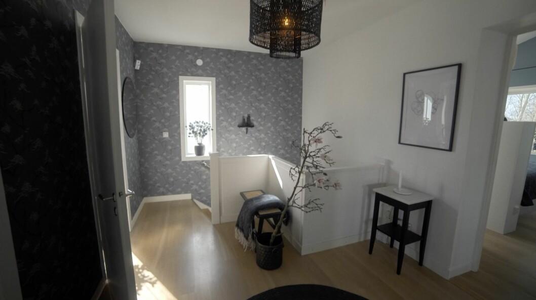 Den renoverade hallen hemma hos Kerstin och Anders Lundin.