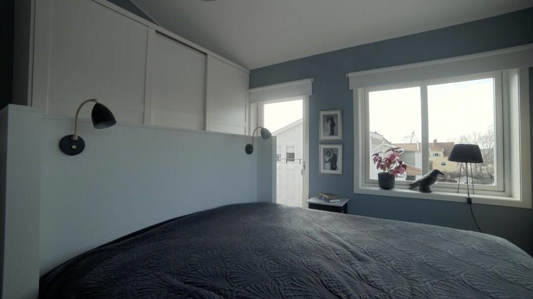 Förvaringen i sovrummet hemma hos Kerstin och Anders Lundin.