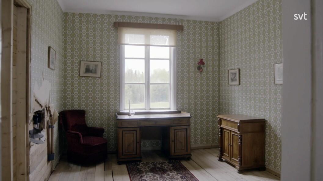 Das Zimmer, das Kerstin während ihres Pflegevertrags mit Per und Gerda Emilsson bewohnte.