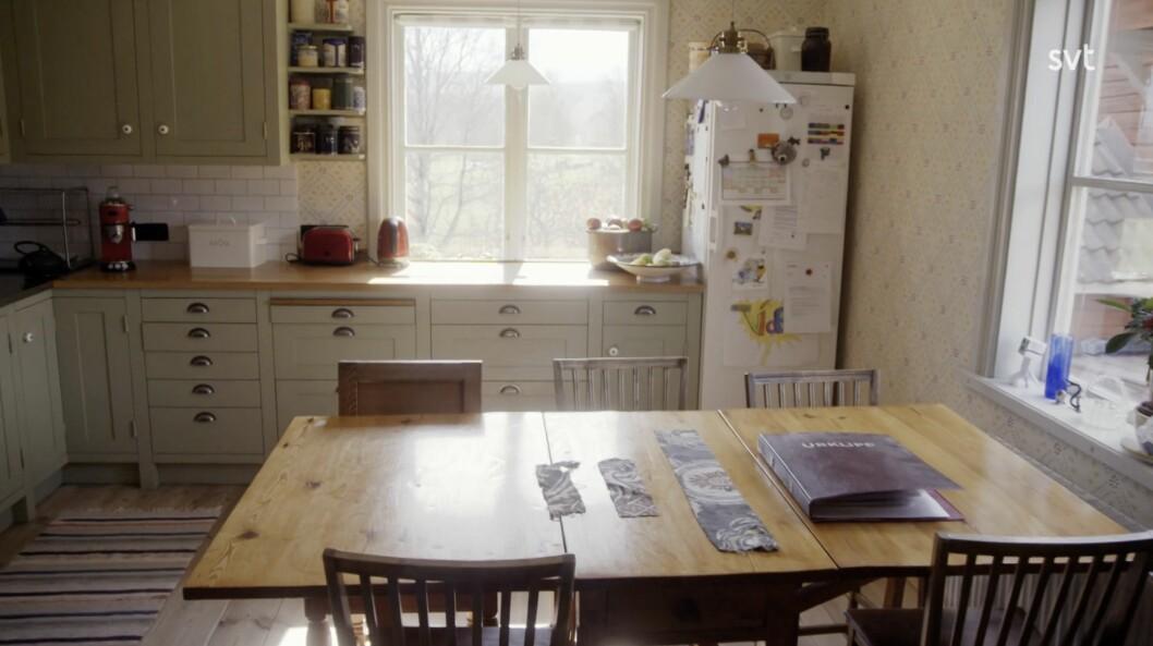 Köket renoverades för fyra år sedan.