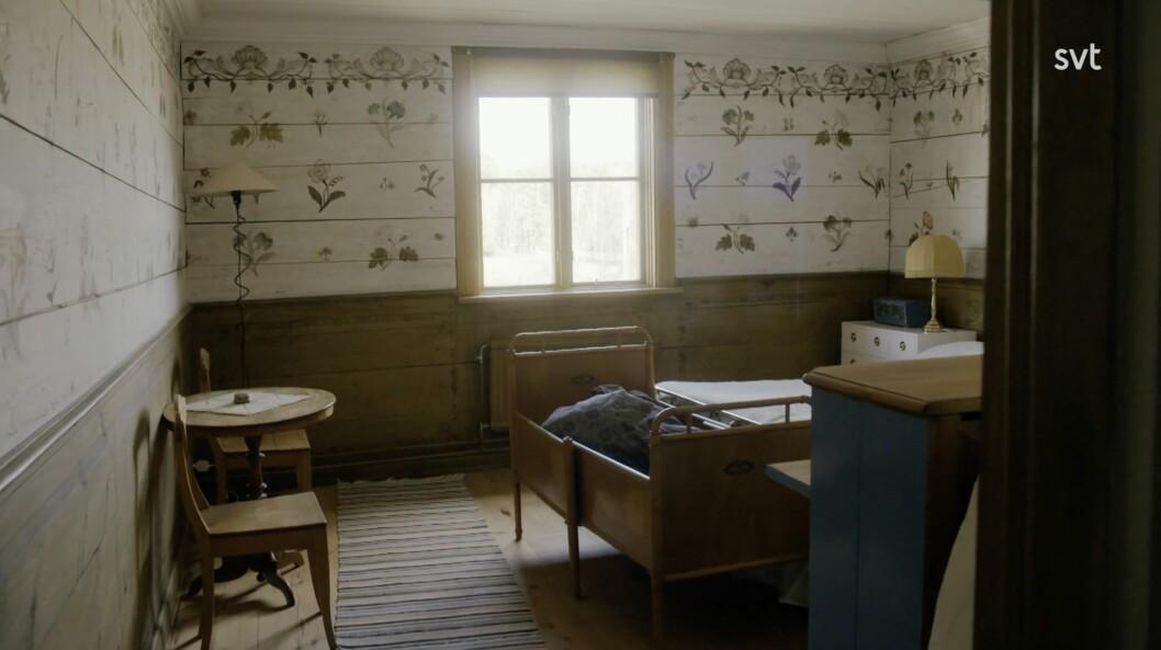 Rummet som Anna och Mats kallar för blomsterrummet.
