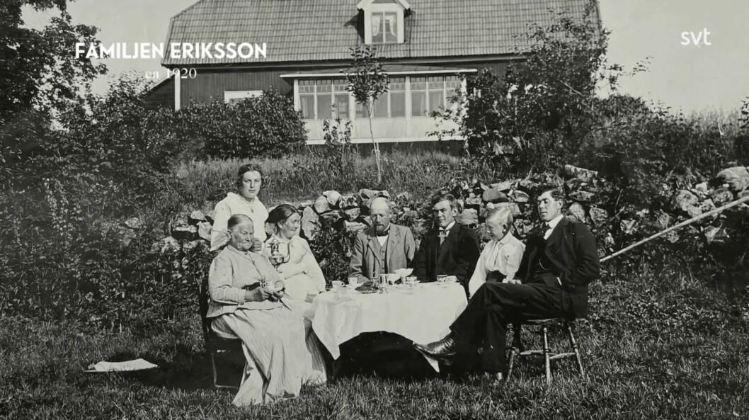 Familjen Eriksson på Vilkesbacka innan Eriks död.