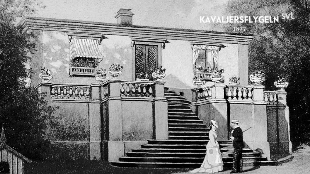 Kavaljersflygeln 1877.