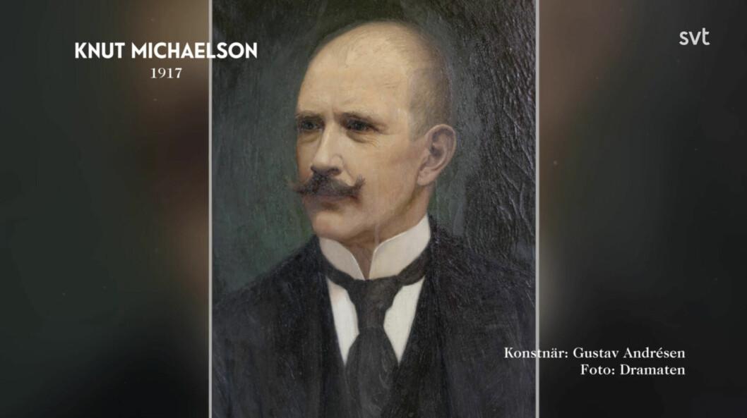 Porträttet av Knut Michaelson som än i dag hänger på Dramaten.