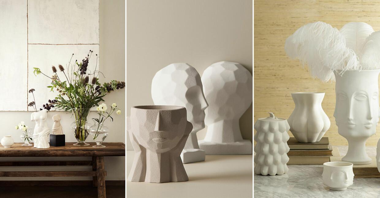 skulpturer ansiktsformer