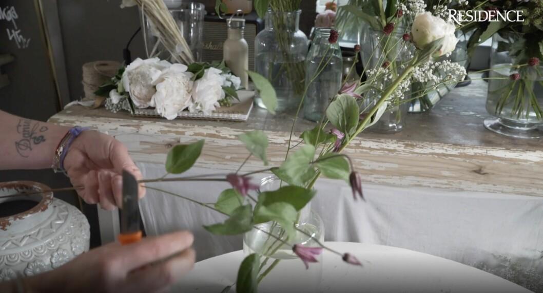 Snitta blommor.
