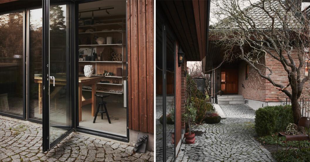 Sofia Tufvasson gör sin keramik hemma på Lidingö.