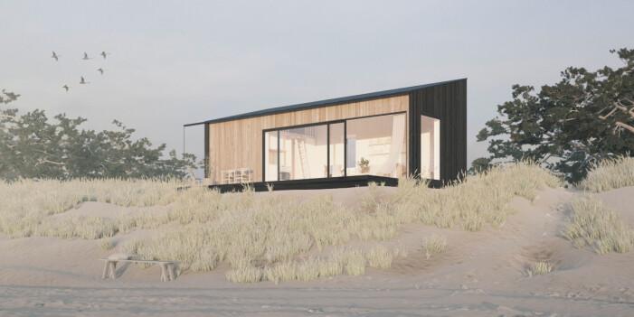 Modernt komplementbostadshus från Sommarnöjen på 30 kvadratmeter