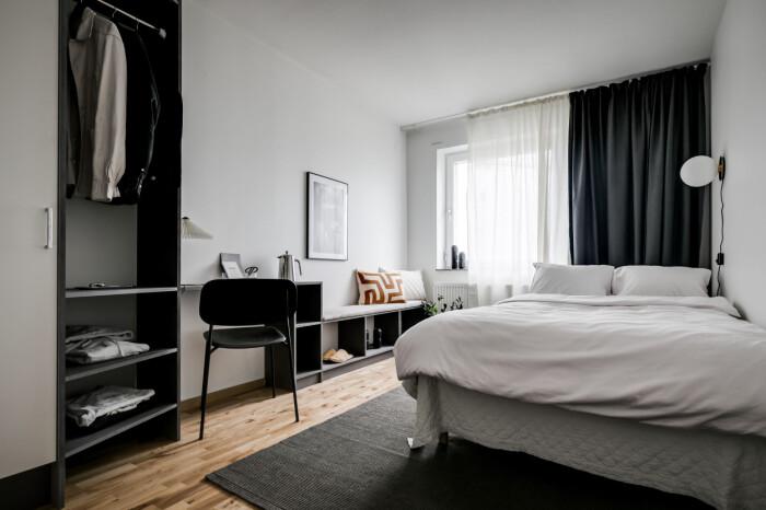 sovrum i 20-30 co-living lägenhet