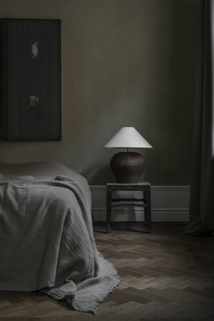 Sovrum med gröna toner