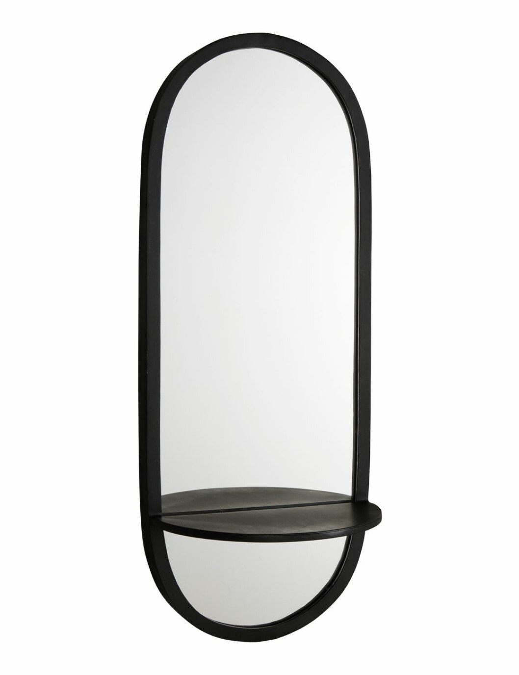 Oval spegel med hylla, från Jotex