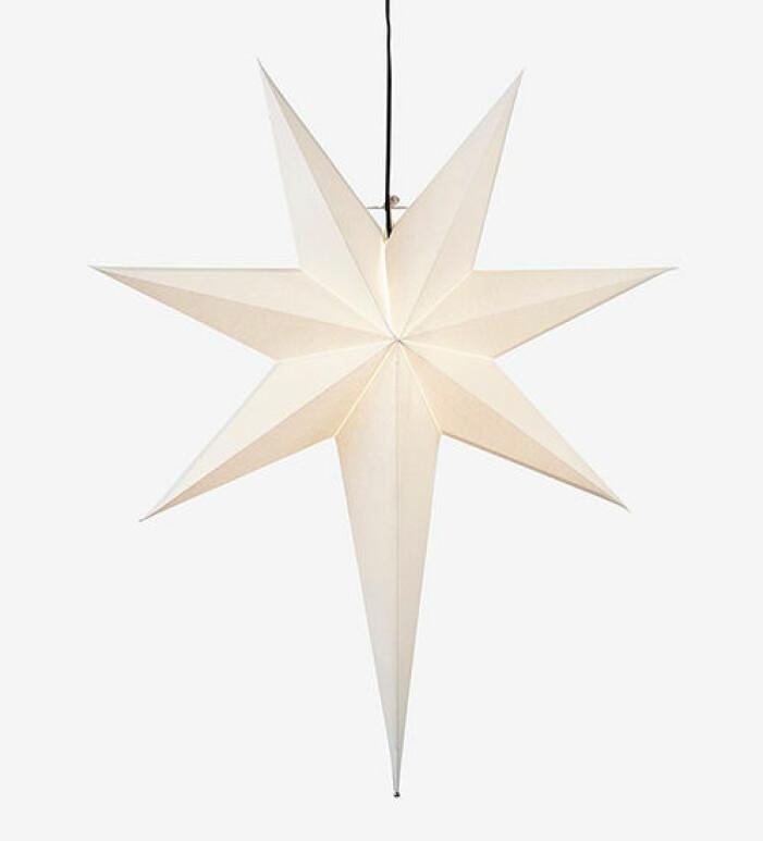 Stor vit adventsstjärna från Star Trading