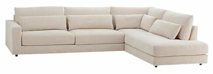 stor beige soffa