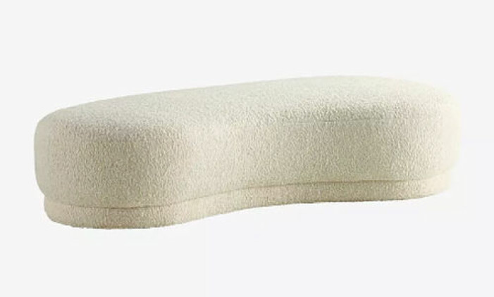 Stor sittpuff i teddymaterial, Jotex