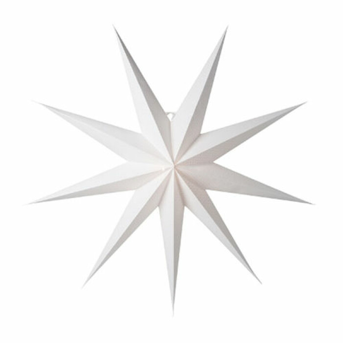 stor vit stjärna jul