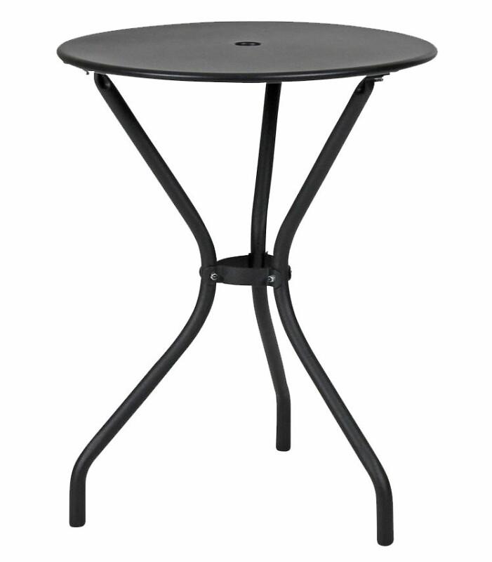 svart litet balkongbord