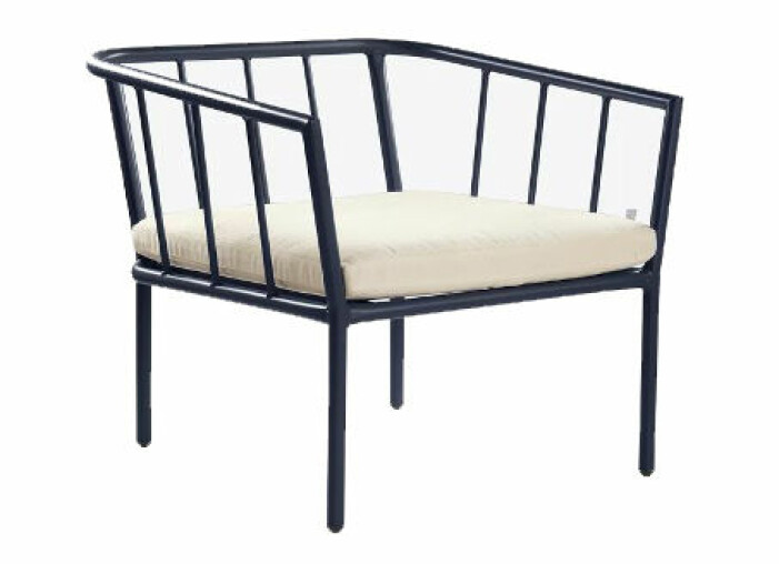 svart utemöbel stol