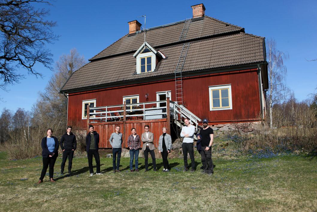 Bergsmansgården Vilkesbacka utanför Falun i Dalarna.