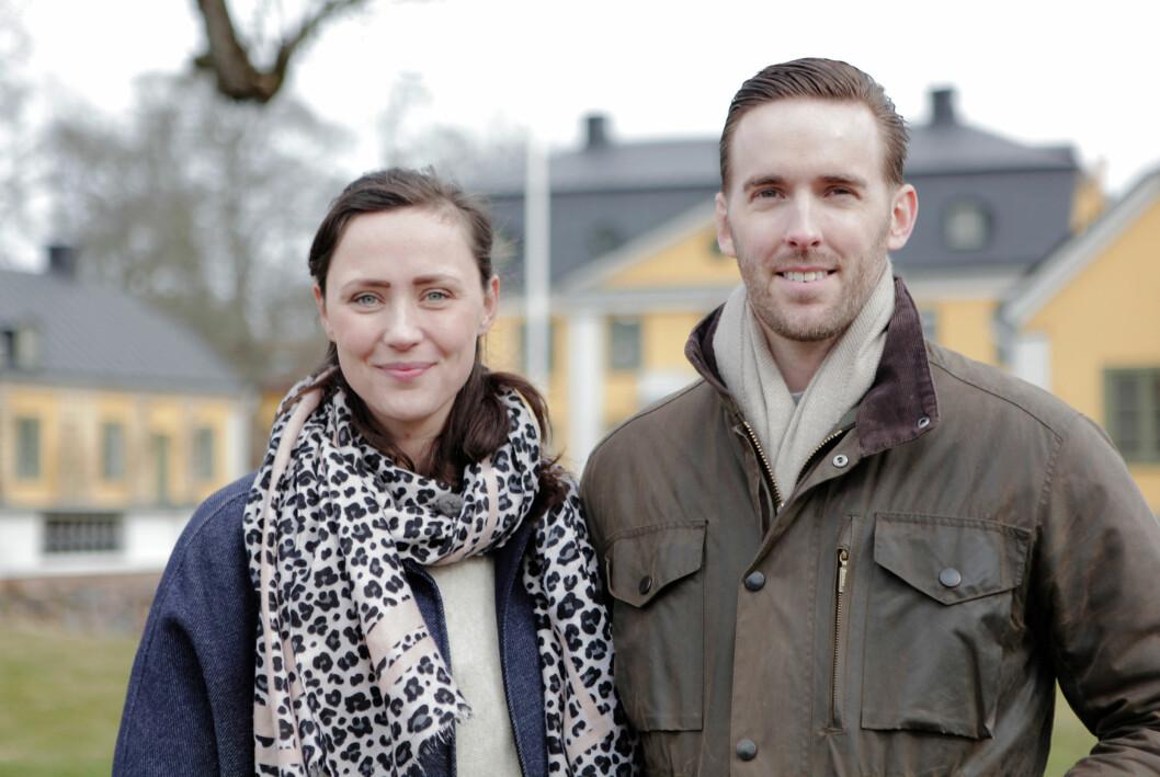 Stina och Kalle Dexner är egenföretagare, småbarnsföräldrar och herrgårdsägare.