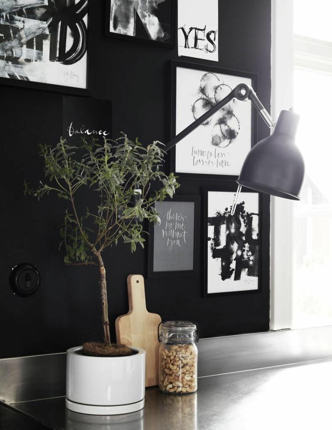 Hämta inspiration från tavelväggar som denna, hemma hos Ylva Skarp.