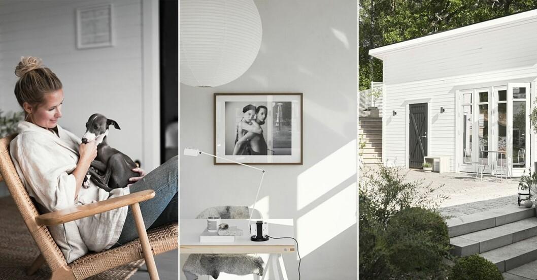 Kika in hemma hos stylisten Pella Hedeby i hennes attefallshus.