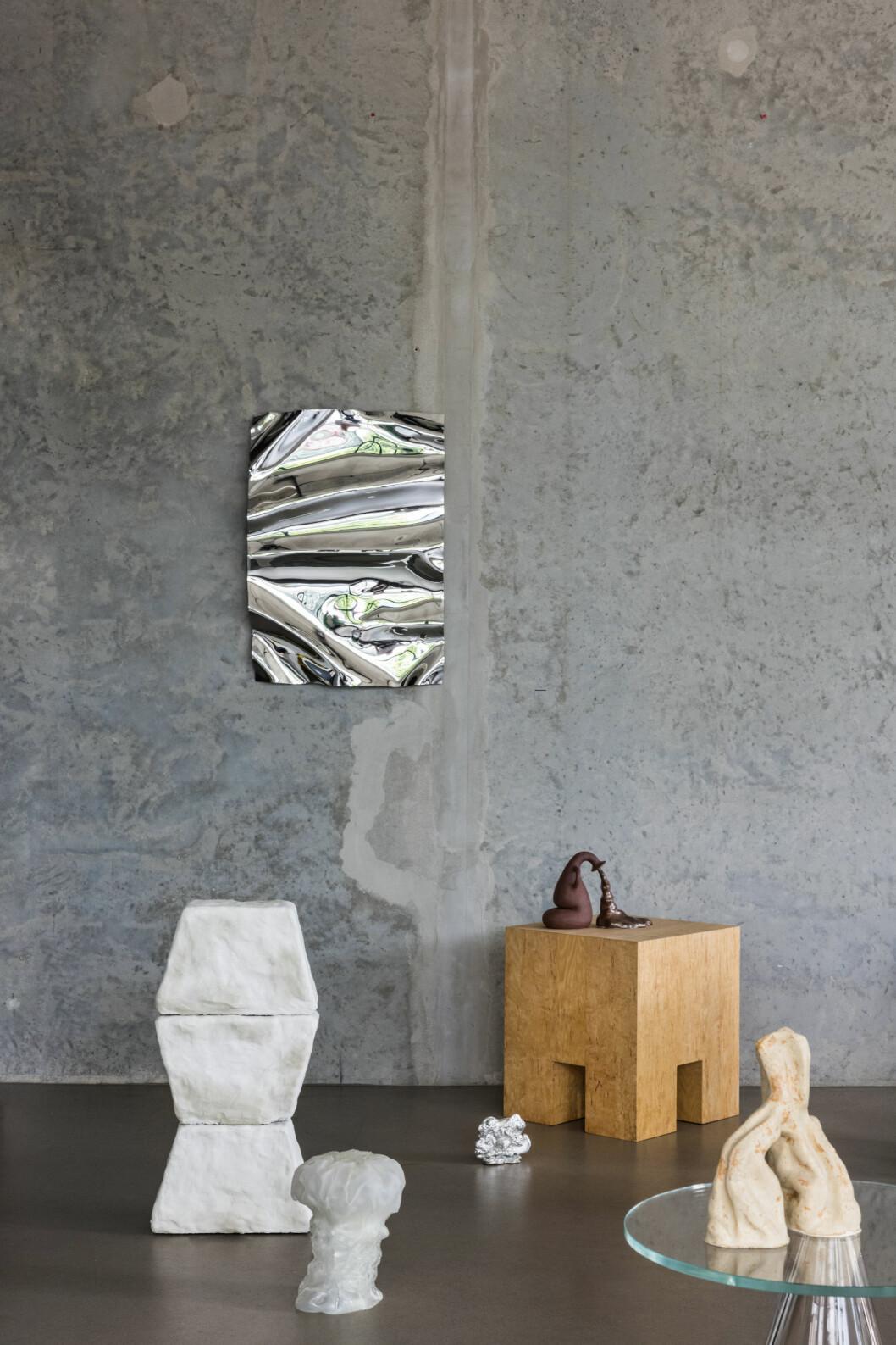 Caia Leifsdotter Psychedelischer Spiegel 50 x 70 Zentimeter.