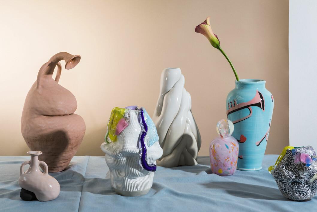 Skulpturella vaser från The Ode To.