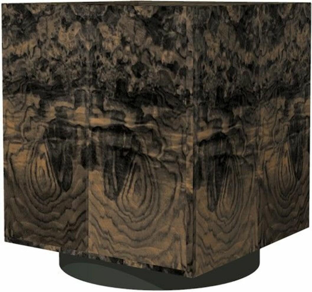 Fyrkantigt bord i trä.