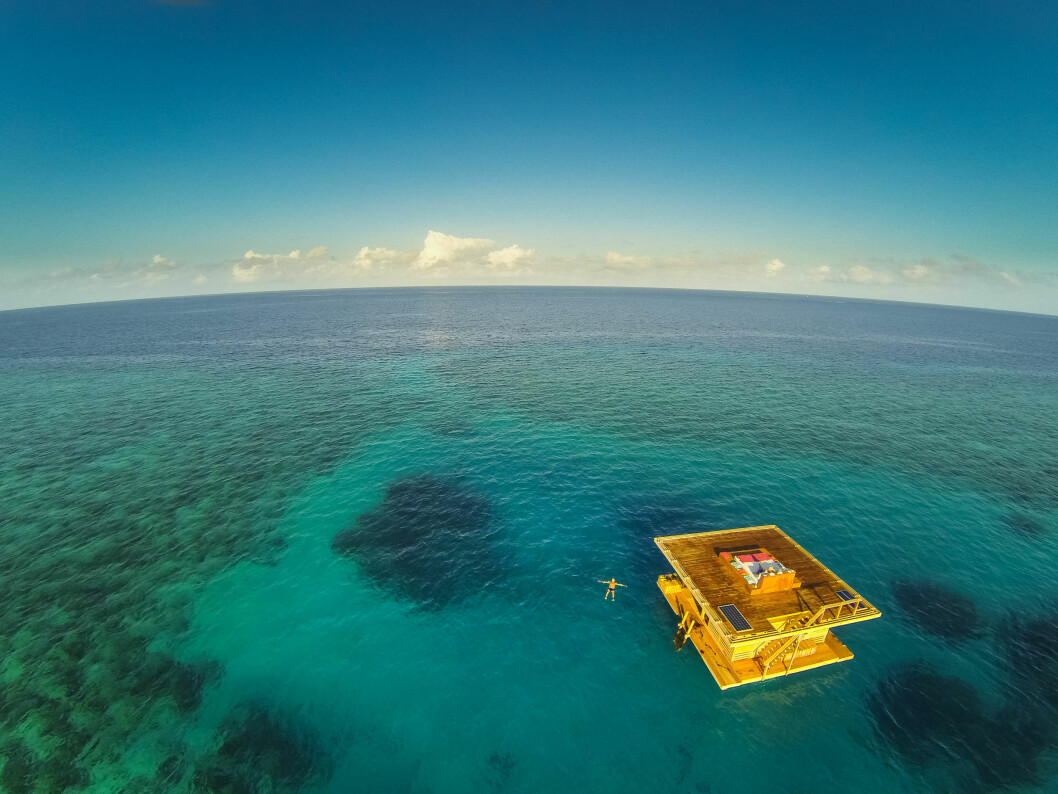 The Manta Underwater Room, undervattenshotellet utanför Pembas kust.