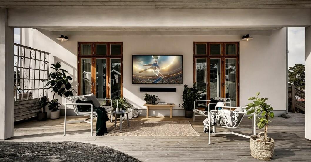 Samsung The Terrace – första 4K QLED-TV för utomhusbruk.
