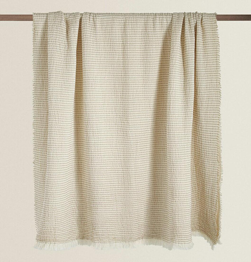 Våfflad randig bomullsfilt från Zara Home