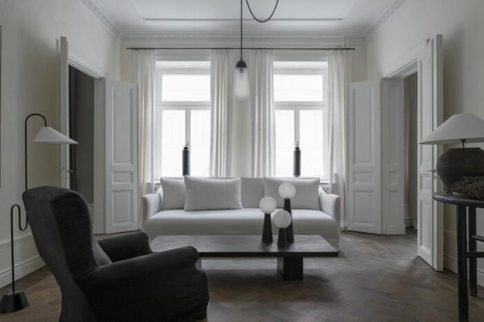 Vardagsrum inrett av Robin Klang grundare till Perspective studio