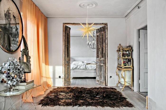 vardagsrum och sovrum i fil