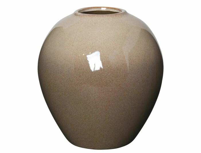 beige vase