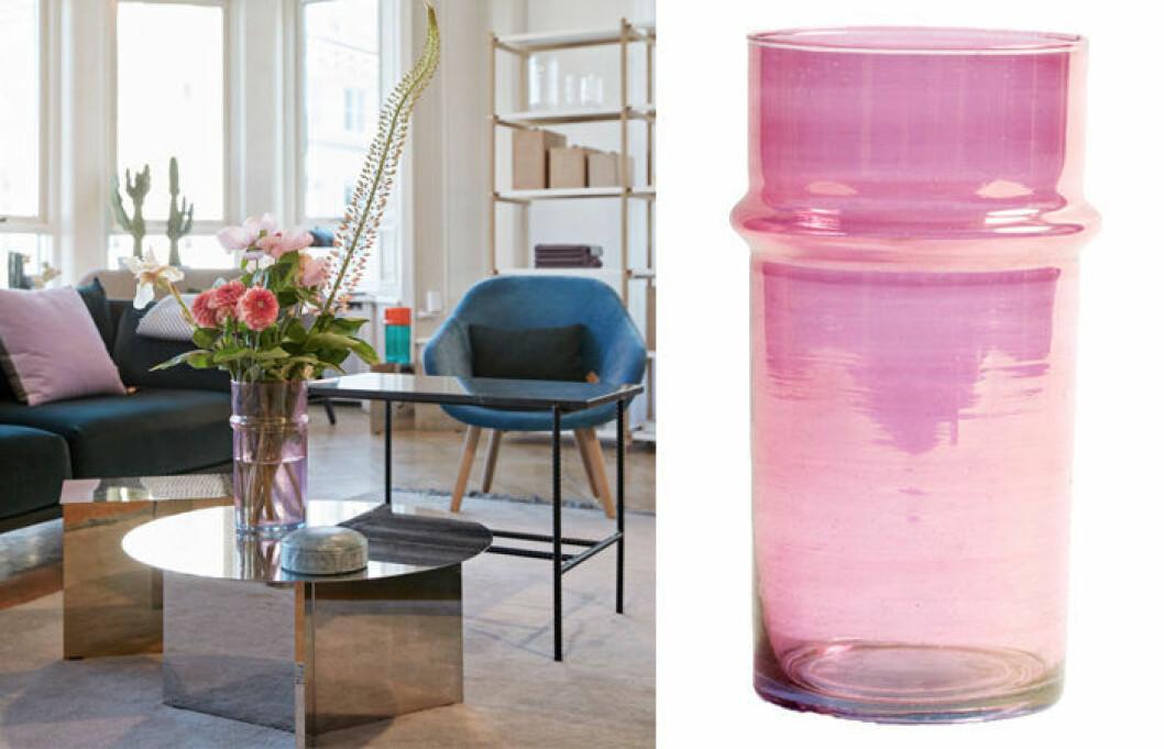 Moroccan vas i rosa från danska Hay