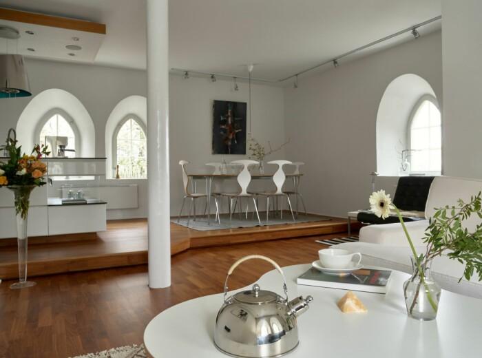 Vattentorn till salu på Lidingö Residence magazine matrum allrum