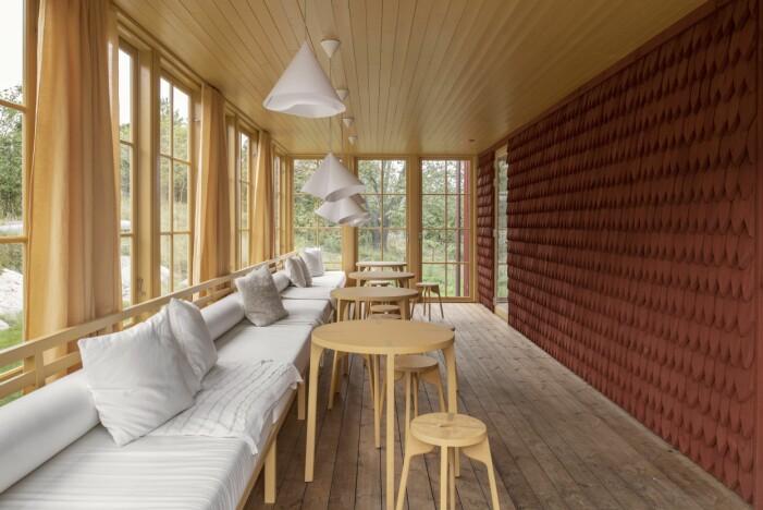 Veranda hemma hos Gert Wingårdh på Äggdal