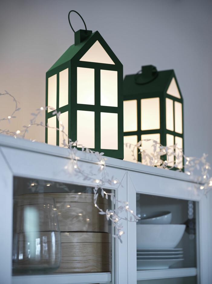 Julen på Ikea 2021, ljuslykta grön