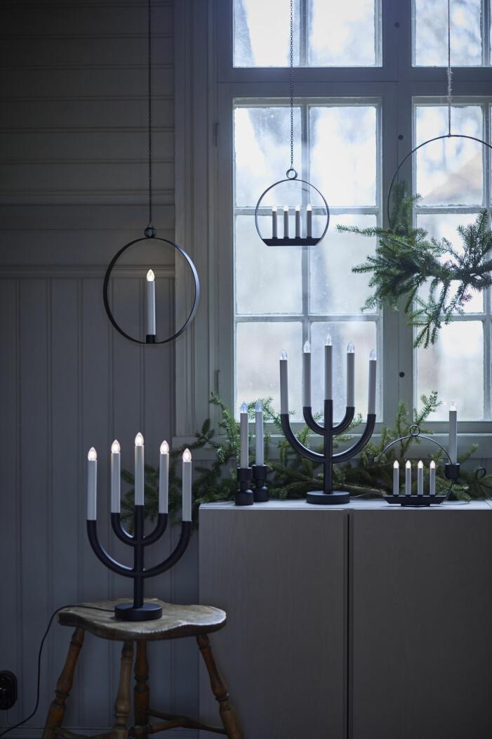 Julen på Ikea 2021, olika ljusstakar