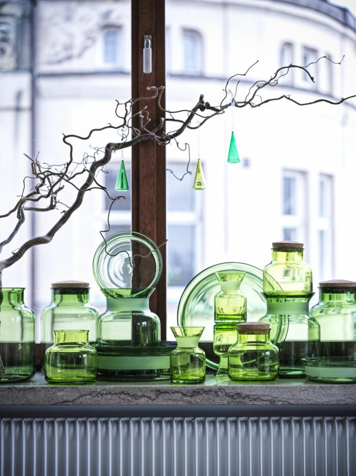 Julen på Ikea 2021, gröna vaser och burkar