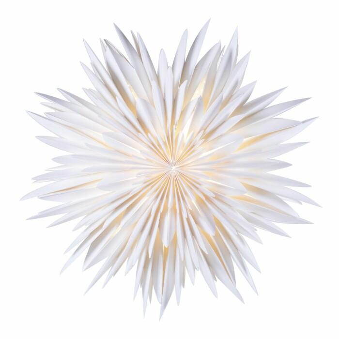 vit populär adventsstjärna från watt & veke