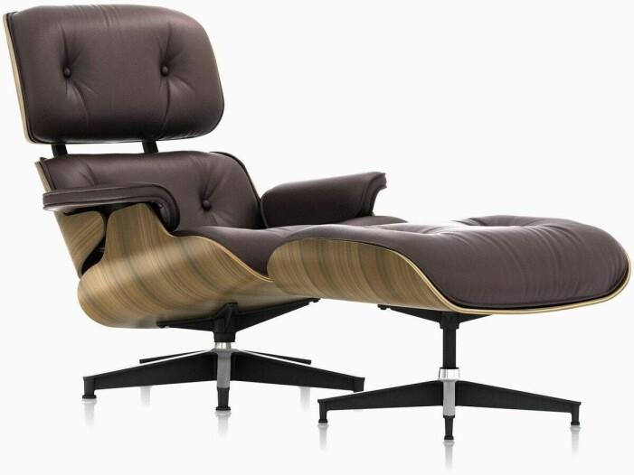 The Eames Lounge av Charles och Ray Eames för Herman Miller