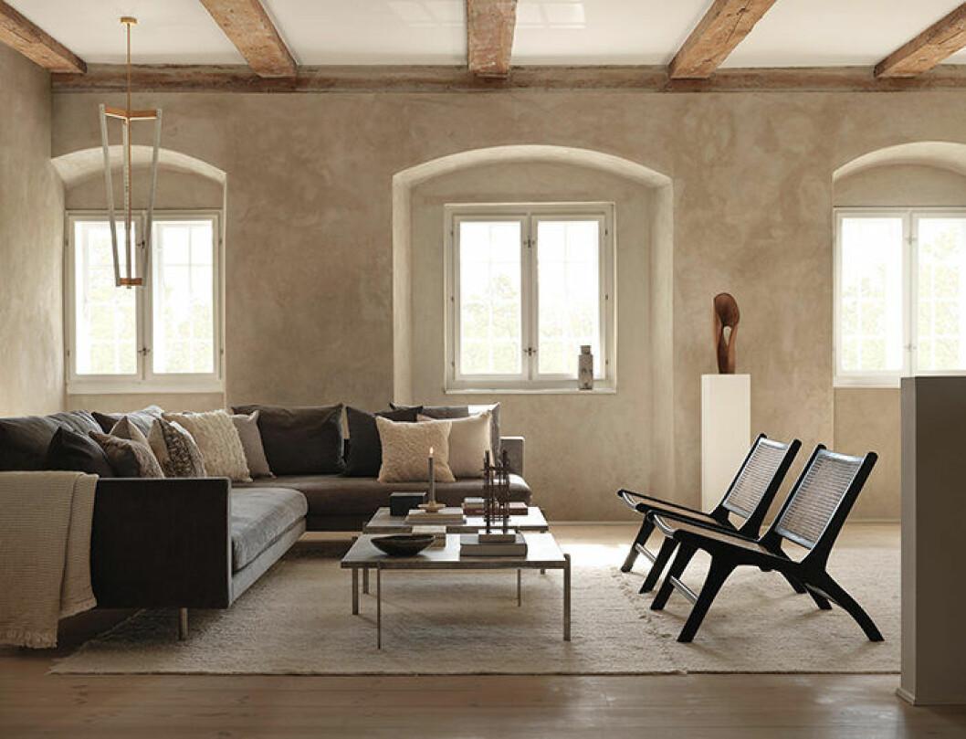 Vardagsrum i naturnära färger hos Zara Home